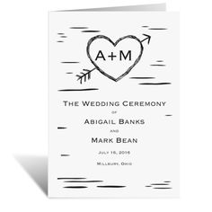 Sweetly Carved - Wedding Program | Wedding Ceremony Programs at Ann's Bridal Bargains