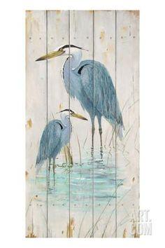 Blue Heron Duo Art Print by Arnie Fisk at Art.com