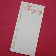 I'm selling Let's Go Shopping Notepad - A$5.00 #onselz
