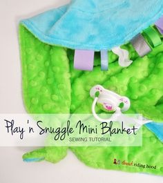 Sew Sisters Quilt Shop: Play 'n Snuggle Mini Blanket Tutorial