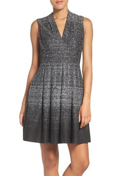 Vince Camuto Vince Camuto Jersey Knit Fit & Flare Dress (Regular & Petite) available at #Nordstrom