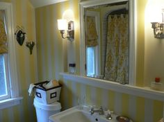 Blue yellow bathroom home projects pinterest blue for Yellow and blue bathroom ideas