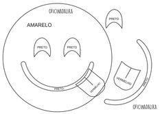 Molde Emotion Sorriso e Língua de fora, pode ser feito em feltro ou e.v.a.