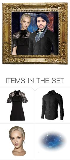 """""""Portrait of a Couple"""" by angelxalice ❤ liked on Polyvore featuring art, couple, portrait, Picture and artset"""