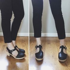 Happy customer in their new T-bar black clogs #clogs #lottas