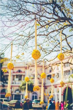 Looking for Hanging Floral Decor? Browse of latest bridal photos, lehenga & jewelry designs, decor ideas, etc. on WedMeGood Gallery. Floral Wedding Decorations, Spring Wedding Flowers, Rustic Wedding Flowers, Diwali Decorations, Festival Decorations, Wedding Ideas, Flowers Decoration, Indian Decoration, Trendy Wedding