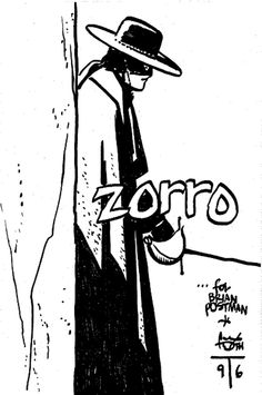Zorro by Alex Toth Comic Book Artists, Comic Artist, Comic Books Art, A Mascara Do Zorro, The Mask Of Zorro, The Legend Of Zorro, Alex Toth, Graphic Novel Art, Cartoon Sketches