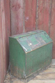 Large Antique Wooden Grain Bin W Divided Primitive Antiques Pinterest Primitives
