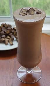 PEANUT BUTTER CUP SHAKE~ 1 serving of Dutch Chocolate Herbalife Formula 1 mix, 1 1/2 cups water, 1 Pkt. Instant Hot Cocoa Mix, 1 Tbsp reduced fat peanut butter, 3-4 ice cubes.