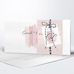 Hochzeitseinladung Farbschimmer Detail