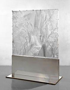 Heinz Mack (b. Veil of Light, 1964 Plexiglass, chrome, hexcell, plastic 69 x 51 x 24 in. x x 61 cm) Op Art, Contemporary Sculpture, Contemporary Art, Modern Art, Abstract Sculpture, Sculpture Art, Kinetic Art, Light Installation, Texture Art