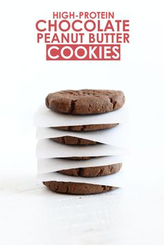 High-Protein Chocolate Peanut Butter Cookies #recipe #healthy #proteinpowder #clean #eatclean #recipe #healthy #recipes