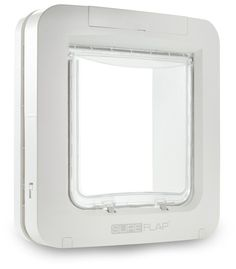"""Curfew Mode - program the door to lock and unlock at specified times. The SureFlap Microchip Pet Door is designed for large cats and small dogs. The dimensions of the flap (the smallest area your pet will need to pass through) is 7\"""" (w) x 6.69\"""" (h). 