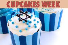"""La recette: Cupcakes Mazal Tov, via le site """"Les Recettes de ma Mère"""" ().  http://lesrecettesdemamere.net/recette/cupcakes-mazal-tov/"""