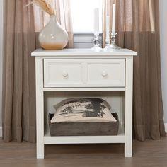 Casey 1 Drawer Nightstand - White $199