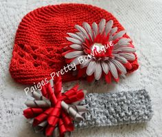 Ohio State Game Day Hair Accessory by PaigesPrettyBowtique on Etsy