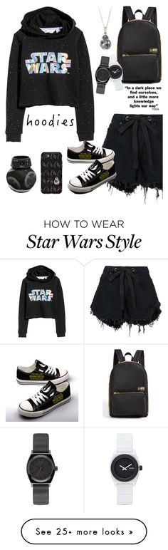 """""""Star wars hoodie"""" by marie-fashion93 on Polyvore featuring State, H&M, Nobody Denim, Nixon, OtterBox, starwars and Hoodies"""