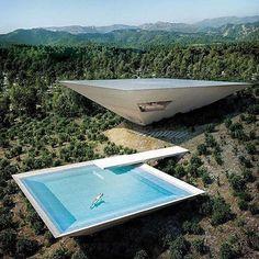 Experimental Architecture: Inverted Pyramid House Set into a Spanish Hillside Futuristic Architecture, Residential Architecture, Contemporary Architecture, Amazing Architecture, Landscape Architecture, Interior Architecture, Japanese Architecture, Futuristic Houses, Contemporary Design