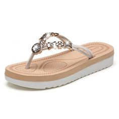 8eaa344817ecf CYBLING Fashion Women Casual Summer Slippers Comfort Flip Flops Outdoor  Beach Shoes     Hope