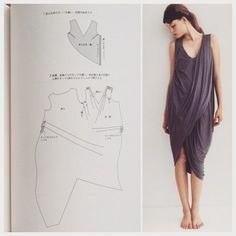 Sewing pattern from the Japanese sewing pattern book, Drape Drape. Love Japanese fashion? Learn to sew Japanese sewing patterns at www.japanesesewingpatterns.com