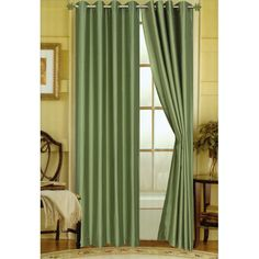 Editex Home Curtain Faux Silk Panel with Grommets, 108', Green *** Be sure to check out this awesome product. (This is an affiliate link) #WindowTreatments