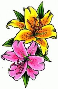 Dragonfly and gerberas tattoo steve martin httptattoosflower yellow and pink lily flower tattoo design mightylinksfo Gallery