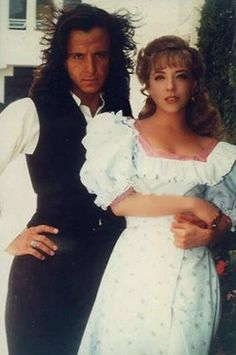 "Eduardo Palomo  & Edith Gonzalez en ""Corazon Salvaje"""