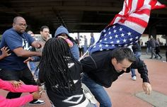 Whoever desecrates our flag must leave this country immediately  Game of Capture the Flag Turns Violent Between Ferguson Protestors and Rams Fans