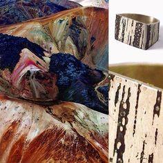 O vigor das marcas da natureza é reproduzido no padrão do anel Impressões, que foi produzido manualmente por Vanessa Robert