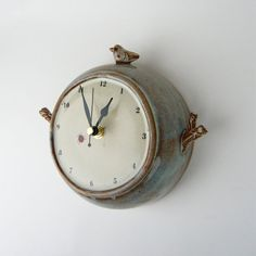 ceramic bird wall clock