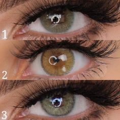 "2 or 👀 Which Green lenses would you like to try on? Gorgeous eyes by wearing Otaku ""Green Collection"" 💕 Natural Color Contacts, Green Colored Contacts, Gorgeous Eyes, Pretty Eyes, Beautiful, Beauty Makeup, Eye Makeup, Lenses Eye, Eye Colors"