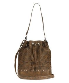 Olive Floral Bucket Bag