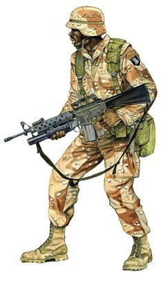 U.S. 101th Airborne, M16 grenade launcher, Irak, pin by Paolo Marzioli
