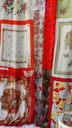 Patchwork Curtains Drapes panels Hippie Hippy room by HippieWild