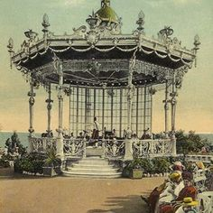 Bandstands: Pavilions for music, leisure and entertainment Pavilion, Colonial, Gazebo, Fair Grounds, Public, England, Entertaining, History, Travel