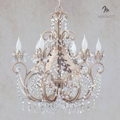 Montaltolamp - Chandelier made in Italy - wrought iron and Swarovsky cristal.  #shabby #shabbychic #italian #madeinitaly #chandelier #art #wallsconces #interior #architect #interiordesign #unique #artisan #wroughtiron #romantic #luxury #tuscany #tuscan #italianstyle #handmade #gold #leaf #painted #interiors #shabbydesign #swarovsky #luxury #deluxe #luxe #livingroom #living www.montaltolamp.com Info : andrea@montaltolamp.com