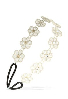 Delicate Crochet Floral Headband | FOREVER21 PLUS - 1000105752 #DressUpPartyDown