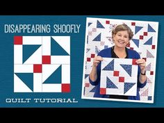 "Make a ""Disappearing Shoofly"" Quilt with Jenny Doan of Missouri Star (Video Tutorial) Missouri Quilt Tutorials, Quilting Tutorials, Quilting Ideas, Msqc Tutorials, Quilting Projects, Half Square Triangle Quilts, Square Quilt, Jenny Doan Tutorials, Layer Cake Quilts"