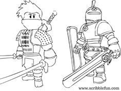 Roblox Coloring Pages Knight and Ninja