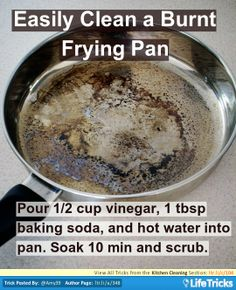 Kitchen Cleaning - Easily Clean a Burnt Frying Pan