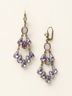 Crystal Pear Tiered French Wire Earrings in Spring Rain by Sorrelli - $95.00 (http://www.sorrelli.com/products/ECY41AGSPR)