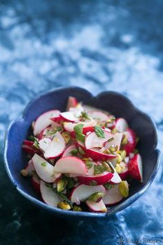 Radish salad with mint and pistachios from Simply Recipes