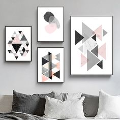 """""""NORDIC Abstract Geometric Modular Pictures Canvas Paintings Scandinavian Poster Decorative Wall Art Pictures For Living Room"""" Living Room Pictures, Wall Art Pictures, Canvas Pictures, Canvas Paintings, Canvas Prints, Scandinavian Wall Decor, Geometric Wall Art, Living Room Paint, Wall Art Decor"""