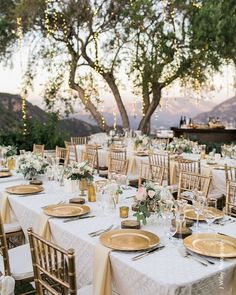A wedding reception on a vineyard! #goals