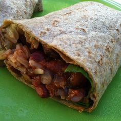 Bean and Rice Burrito