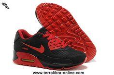 promo code 7c8fe de219 Cheap Nike Air Max 90 Mens Shoes HYP PRM KPU TPU 2014 New Black Red 2013