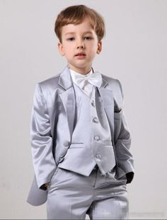 5a193941e US $61.04 45% OFF|Aliexpress.com : Buy Elegant Silver Satin Wedding Ring  Bearer Suits Boys' Formal Occasion Wedding Suits/Kid Two Button Tuxedos/Boy's  Dress ...