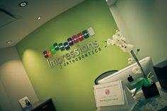 Behind Reception Desk Dental Logo, Dental Art, Us Office, Dental World, Dental Office Design, Clinic Design, Dental Surgery, Dental Health, Pediatrics