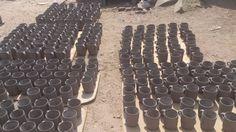 Elaboración de los jarros de barro. Visitanos en www.ArtesaniasDeTonala.com