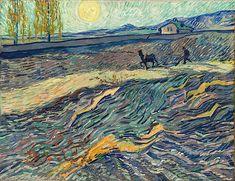 ALONGTIMEALONE: Van Gogh - Laboureur dans un Champ - 1889. Oil on...